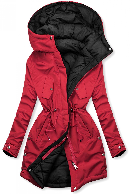 Wendejacke von LHD rot/schwarz. - nicht abnehmbare Kapuze - Reißverschluss vorne - einstellbarer Tunnelzug im Teillenbereich - dünne Füllung -Rückseite ohne Verzierung - seitliche Taschen - Material: 100% Polyester