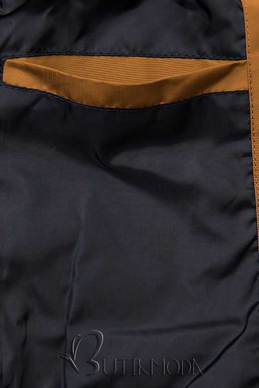 Übergangsjacke mit Kapuze braun/dunkelblau W-02