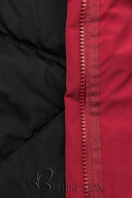 Wendejacke von LHD rot/schwarz