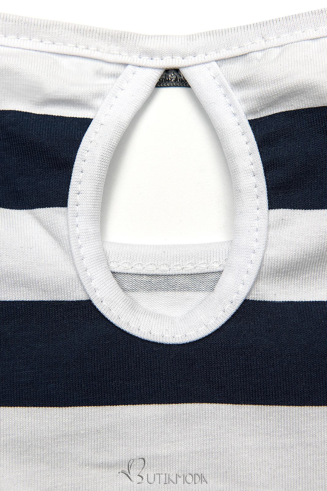 Freizeitkleid blau/weiß X.