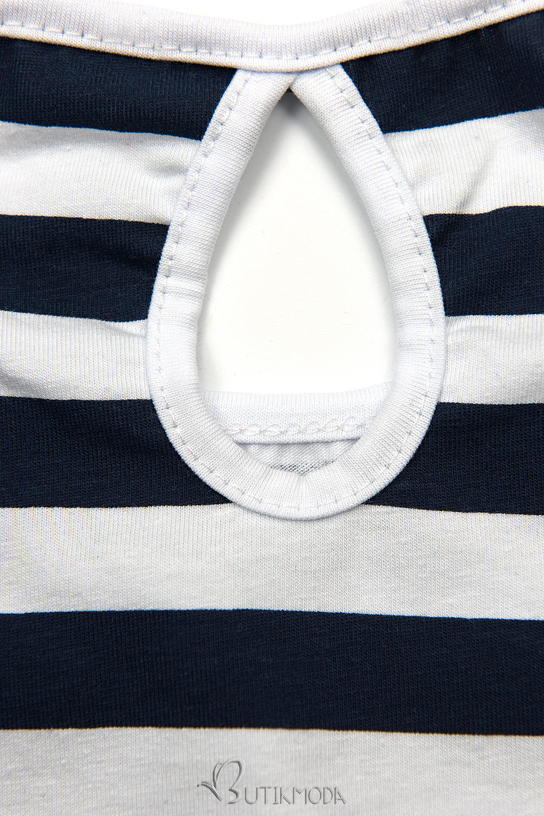 Freizeitkleid blau/weiß I.