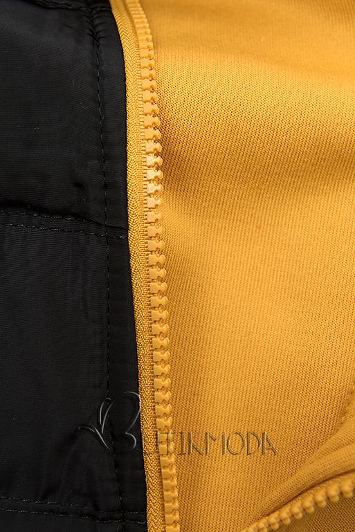 Sportliche Sweatjacke gelb/schwarz