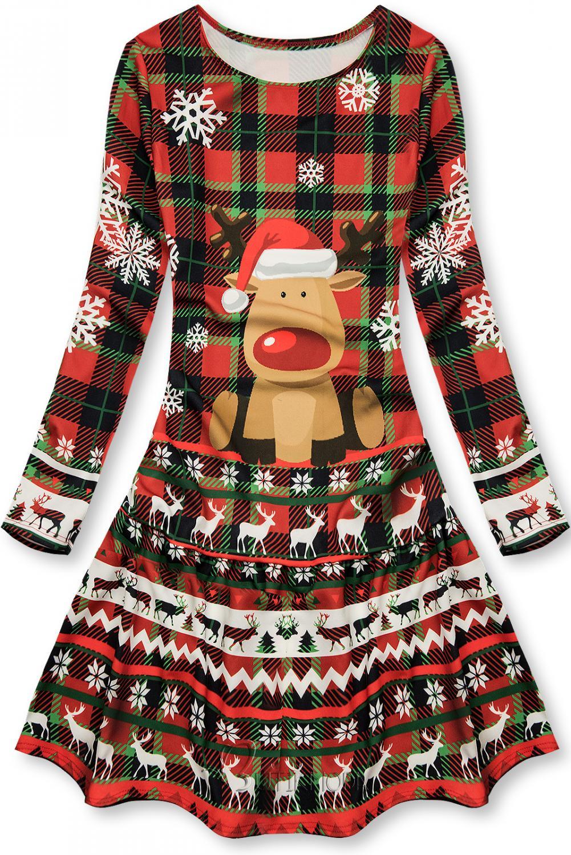 Weihnachtskleid mit Rudolph