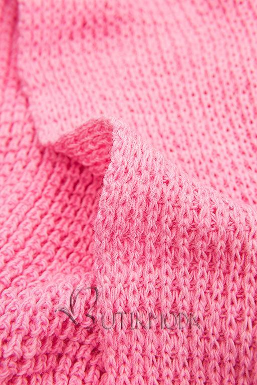 Cardigan ohne Verschluss pink