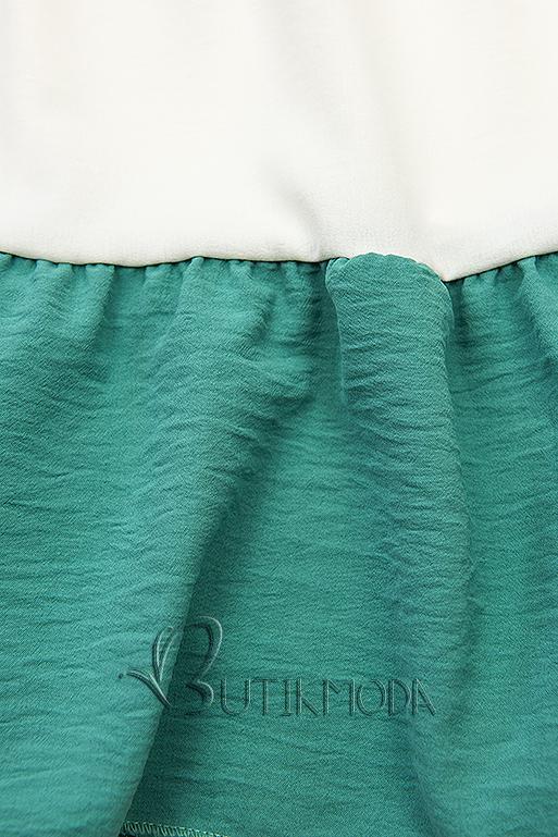 Top mit Volantdetails blau/weiß/türkis