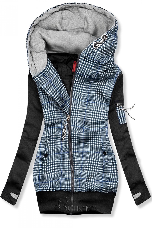 Jacke im Hybrid-Look grau