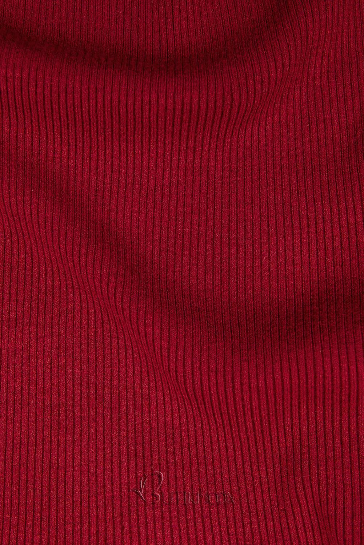 Rollkragenpullover rot