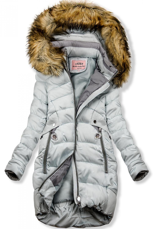 Winter Jacke mit Kapuze babyblau