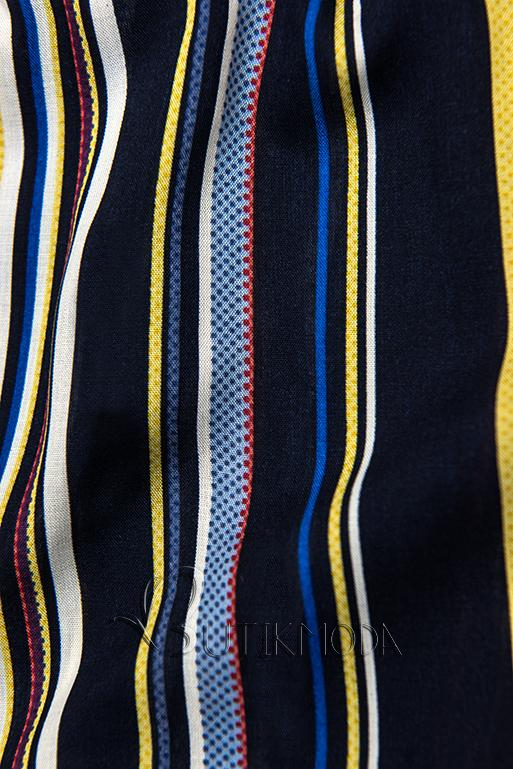 Shorts mit Spitzensaum dunkelblau