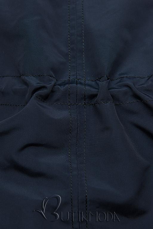 Übergangsjacke mit Kapuze dunkelblau W-02