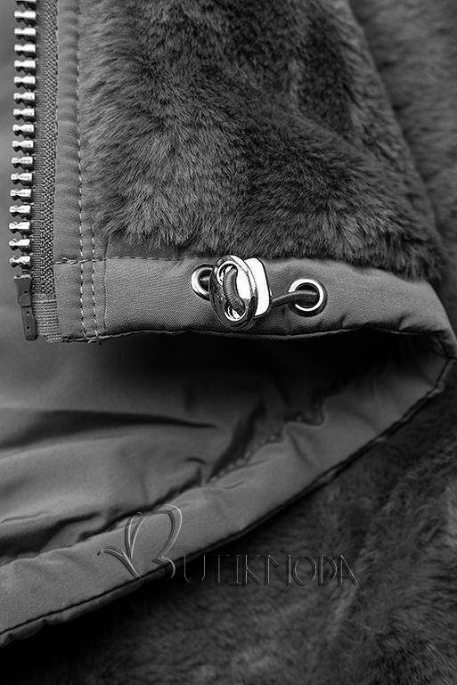 Winterjacke mit Wendemöglichkeit grau