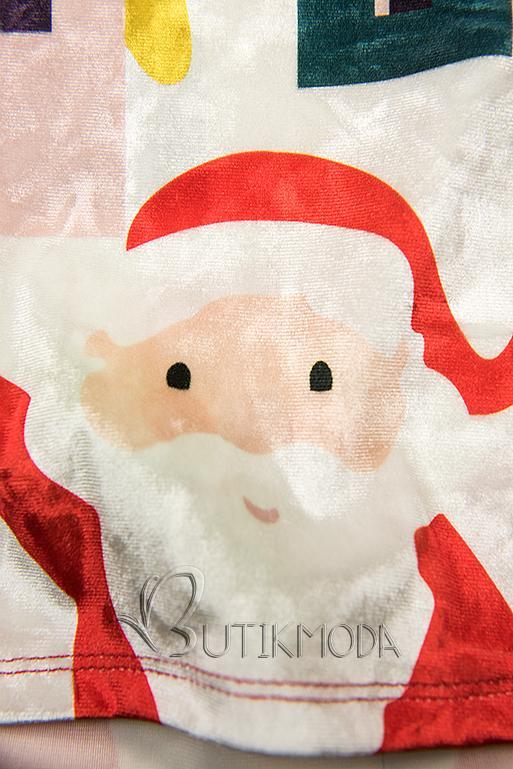 Velourskleid Christmas Time rot