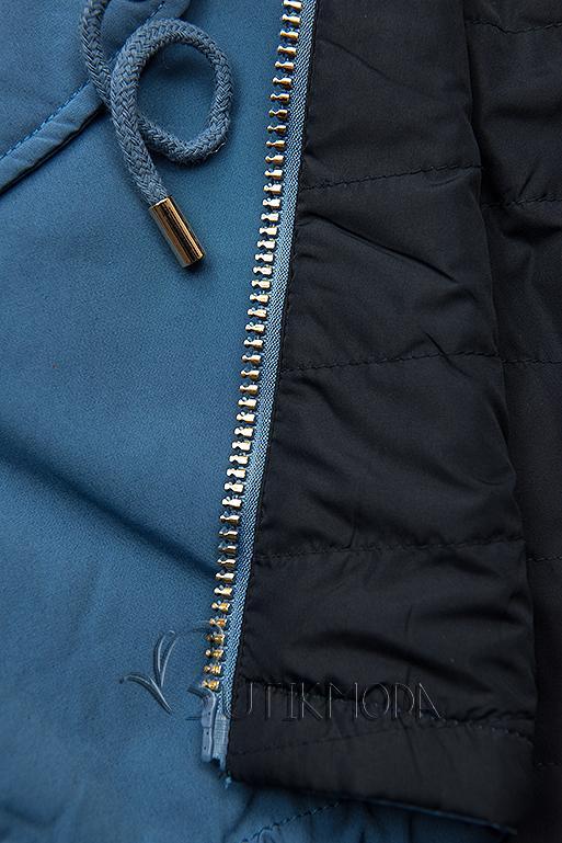 Wende-Parka mit Kapuze jeans/dunkelblau