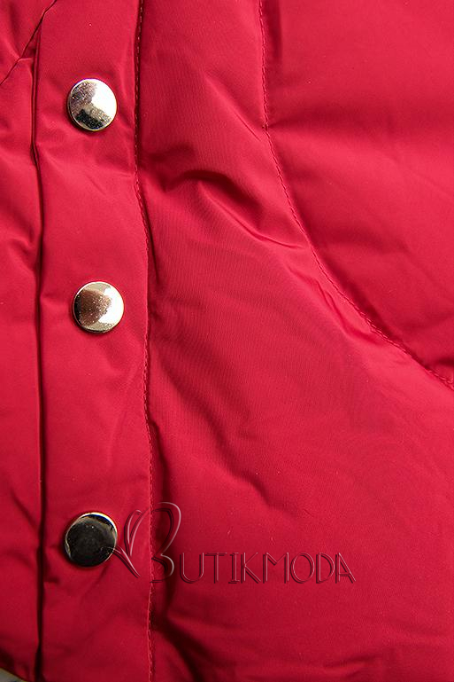 Steppmantel mit Kapuze von LHD rot