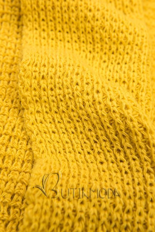 Cardigan ohne Verschluss gelb