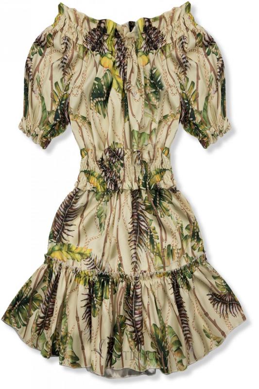 Kleid Serena beige-gelb/O'la Voga