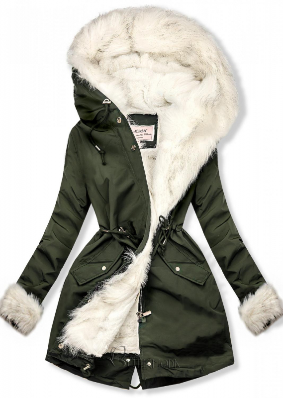 Wintermantel Parka grün