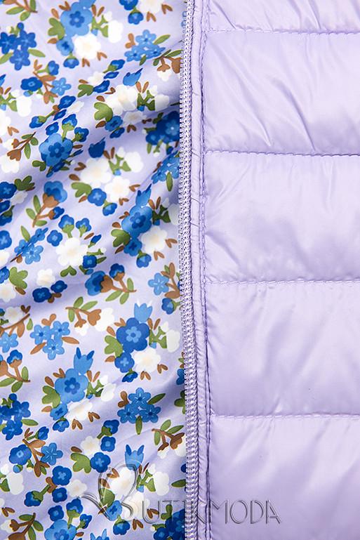 Wendejacke mit Kapuze lila