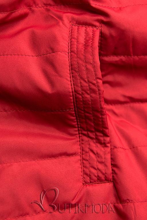Wendejacke mit Kapuze dunkelblau/rot