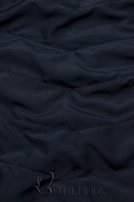 Wendejacke mit Kapuze rot/dunkelblau