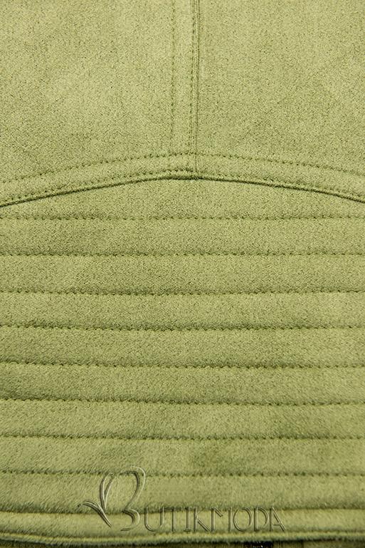 Wildlederjacke pistaziengrün