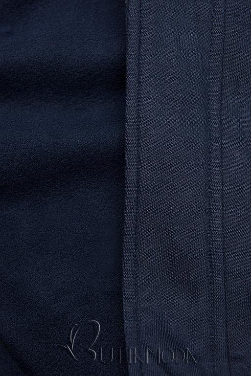Verlängerte Kapuzenjacke dunkelblau