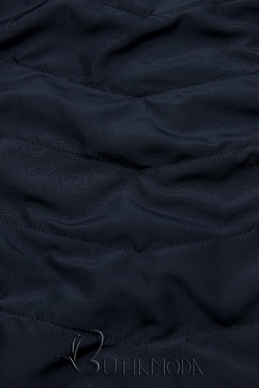 Wendejacke mit Kapuze braun/dunkelblau