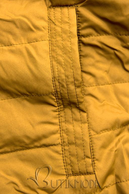 Wendejacke mit Kapuze khaki/gelb