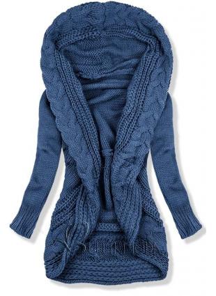 Strickjacke jeansblau