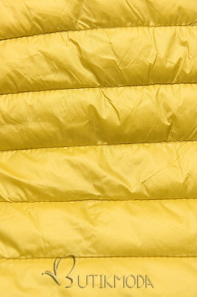 Leichtsteppjacke mit Kapuze gelb