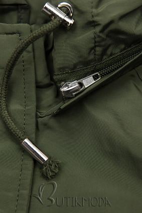 Übergangsjacke mit Kapuze khaki W-02