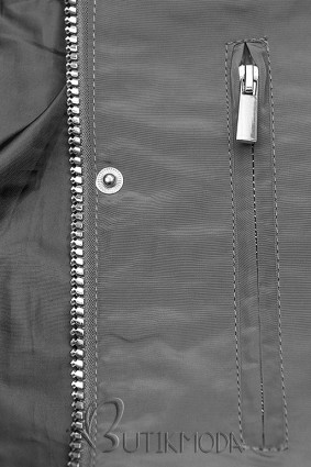 Übergangsjacke mit Kapuze grau W-02