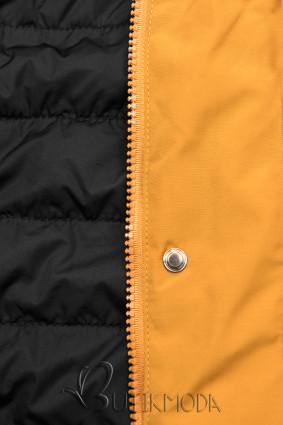 Wende-Parka gelb/schwarz