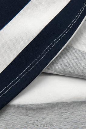Freizeitkleid blau/weiß XX.