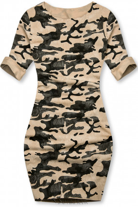 Lässiges Army Kleid braun