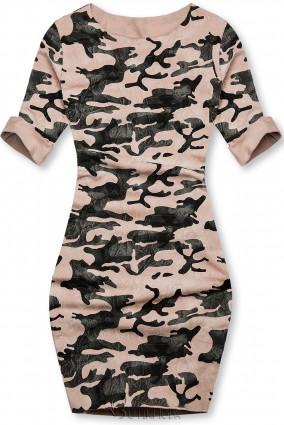 Lässiges Army Kleid rosa