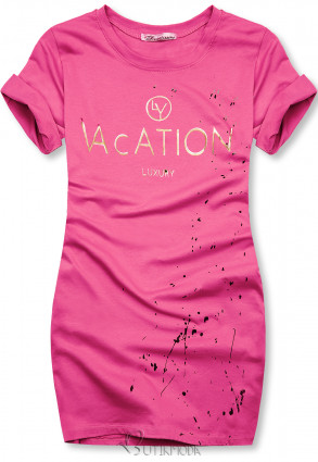 Tunikashirt VACATION pink