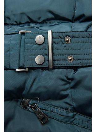 Jacke mit abnehmbarer Kapuze blaugrün