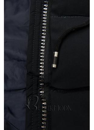 Gesteppte Jacke für Winter mit Kapuze d.blau