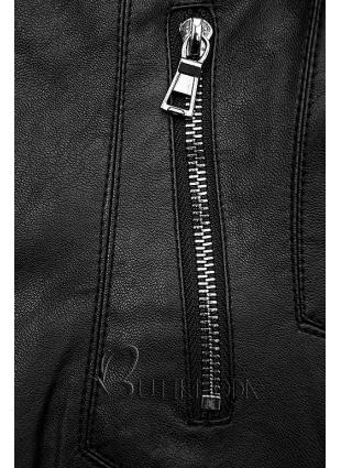 Kunstlederjacke schwarz