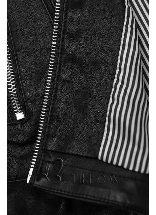 Jacke aus weichem Kunstleder schwarz