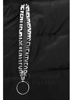 Trainingsanzug mit kombinierten Materialien schwarz