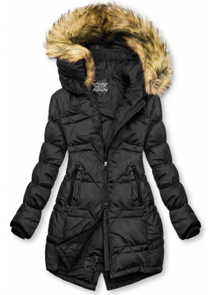 Gesteppte Jacke für Herbst/Winter schwarz