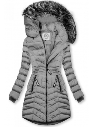 Winter Steppjacke FASHION grau
