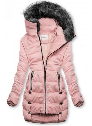 Gesteppte Jacke rosa