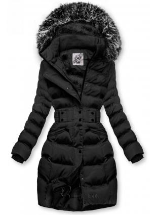 Jacke mit abnehmbarer Kapuze schwarz