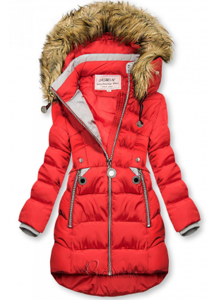 Winter Jacke mit Kapuze rot