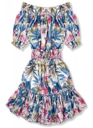 Kleid Serena blau-rosa/O'la Voga