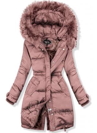 Winterjacke rosa