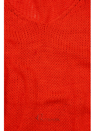 Strickpullover neon orange